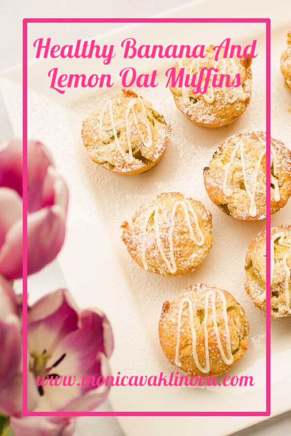 Healthy Banana And Lemon Oat Muffins