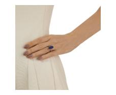 Rose Gold Vermeil Atlantis Flint Ring - Lapis - Monica Vinader