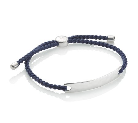 Monica Vinader Havana Men's Friendship Bracelet - Denim Blue