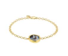 Gold Vermeil Atlantis Gem Bracelet - Line Onyx - Monica Vinader