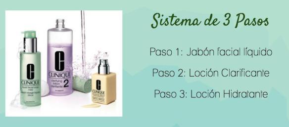 Sistema 3 pasos clinique