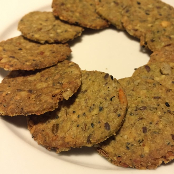 Seeds and weeds crackers recipe