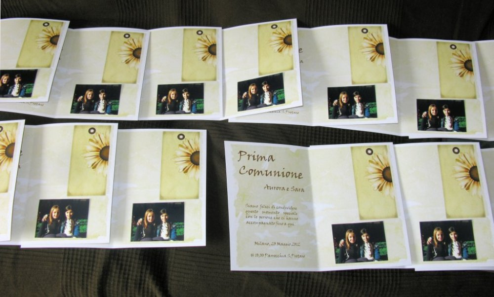 Inviti Prima Comunione Sara - First Communion Iivitations Sara (5/6)