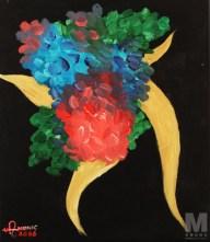 "Air 1 of the Air Series, Acrylic on 12x14"" canvas"