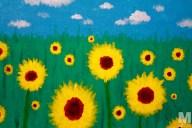 Sunflowers, Acrylic on 10×14″ canvas