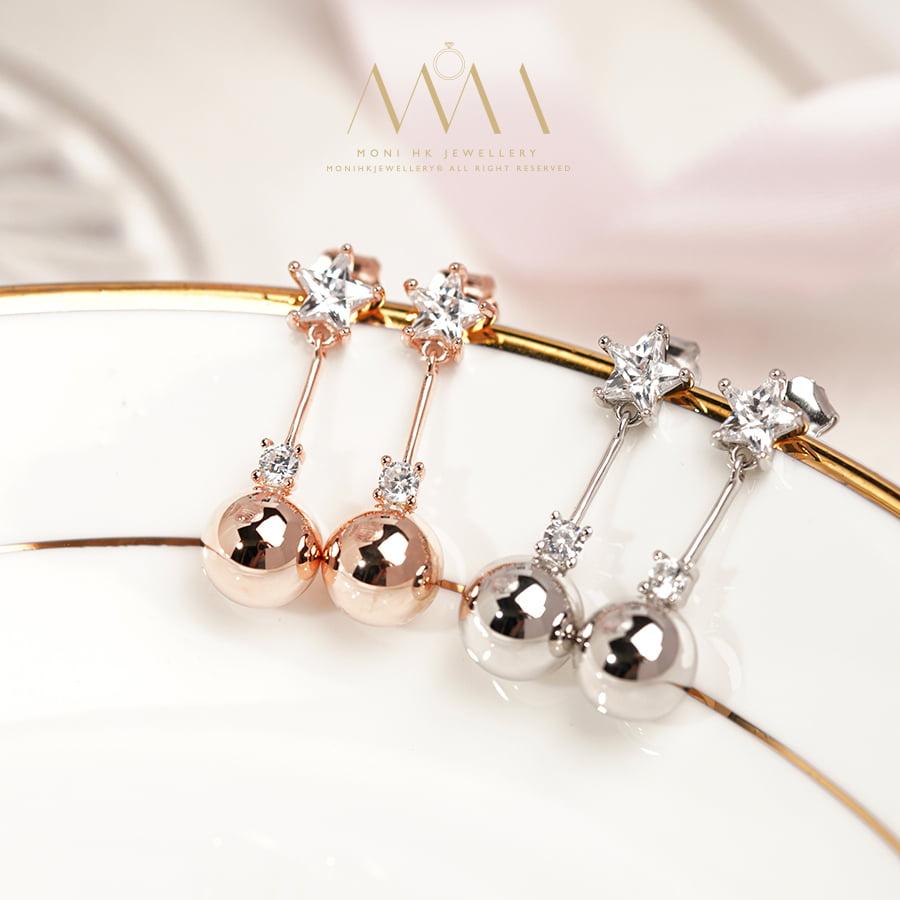 ME588 925純銀 星星 耳環 | 925純銀首飾-令你一試難忘