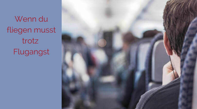 Flugangst überwinden, Sitzreihe im Flugzeug