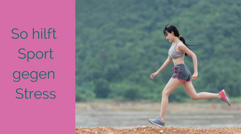 Sport gegen Stress, Läuferin