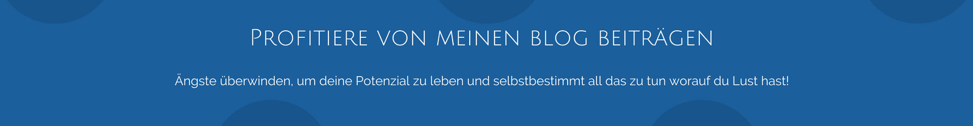 Blog Ängste