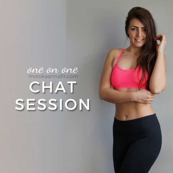 one on one chat weight loss coach, fitness coach monikaannafit