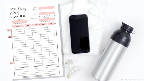 Meal Plan, Gym Log and Workout Calendar Bundle