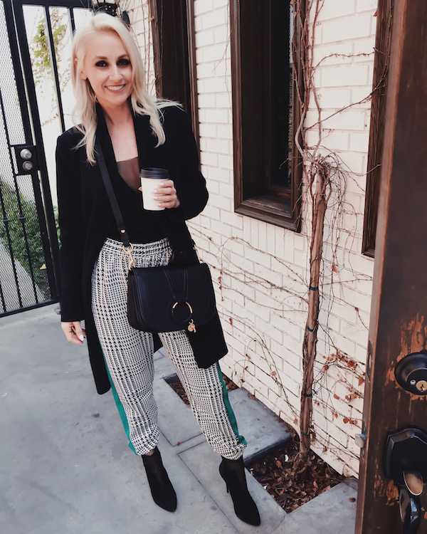 HOUNDSTOOTH DRESSY JOGGERS