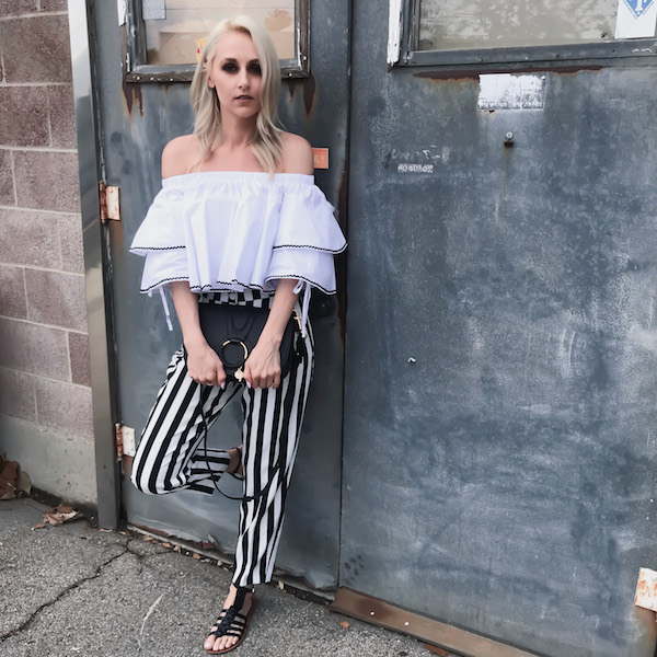 STRIPED PANTS FOR WOMEN