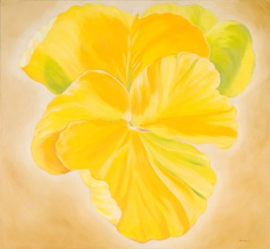Monika Ruiz Art - Gloria Yellow Pansie