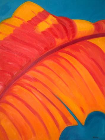 Monika Ruiz Art – Orange, Red Vein