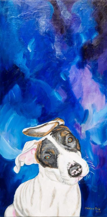 Monika Ruiz Art - Puck In Blue