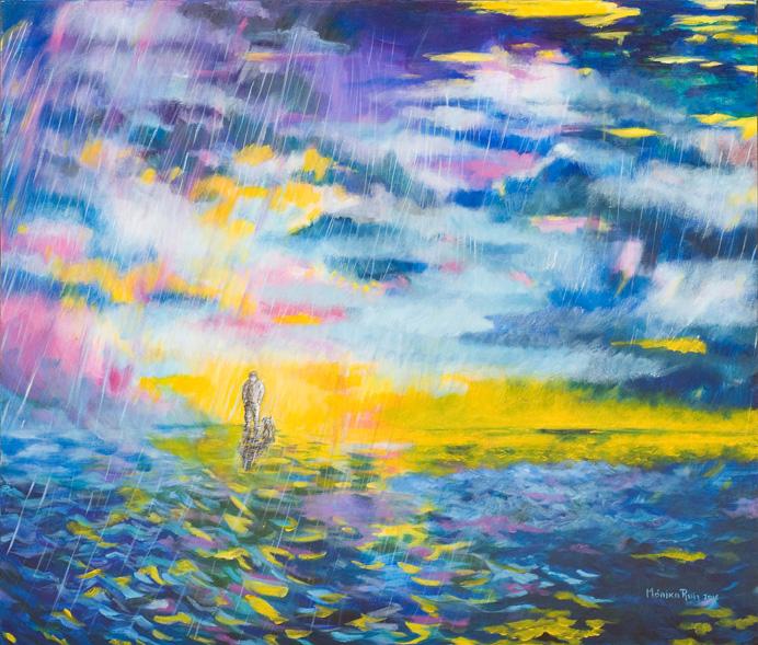 Rainy Sunset by Monika Ruiz