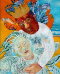Monika Ruiz Art - The King and Little Girlbird