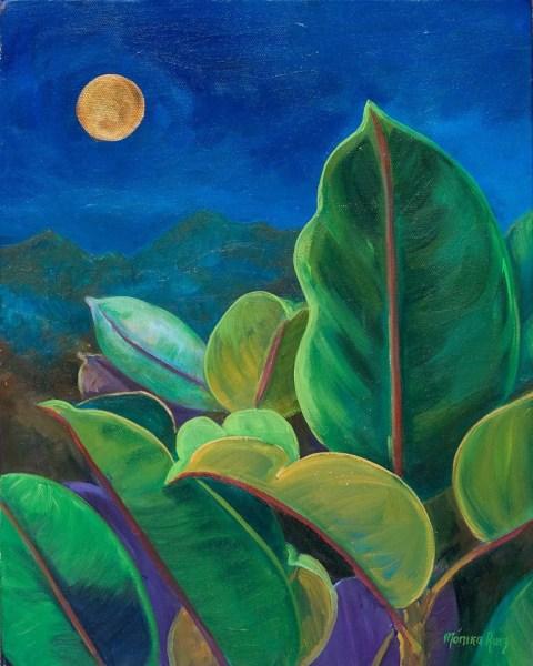Monika Ruiz Art - Golden Moon