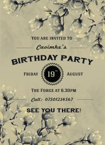 birthday invite