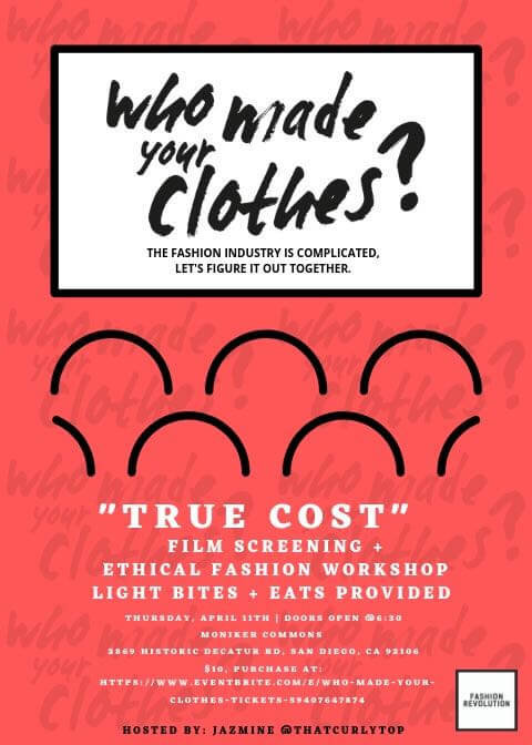 Moniker Event: Who Made Your Clothes