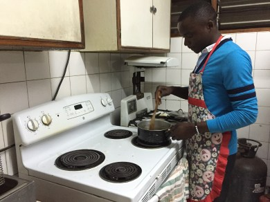 Leo cooking nsima