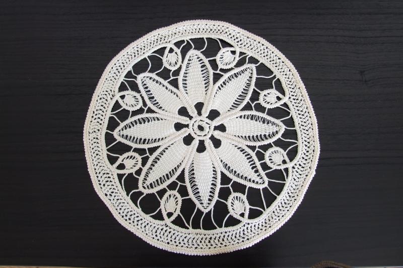 Ivory Round Crochet Doily