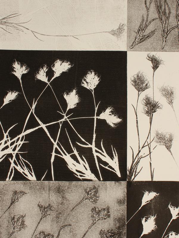 Unique Hand printed Botanical Monotype Monique Day-Wilde