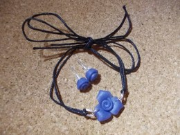 Blue glass roses 1