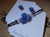 Blue glass roses 3