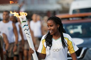 BA - SALVADOR - 24/05/2016 - REVEZAMENTO DA TOCHA RIO 2016 - Revezamento da Tocha Olimpica para os Jogos Rio 2016. Foto: Rio2016/Andre Luiz Mello