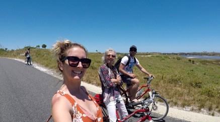 Bike riding around Rottnest Island