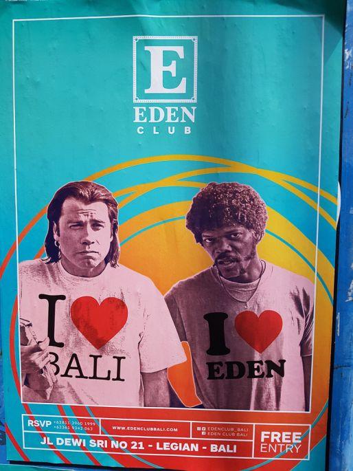 Eden Club Legian Bali Sign