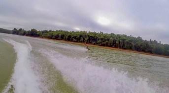 Knee Boarding at Waroona Dam