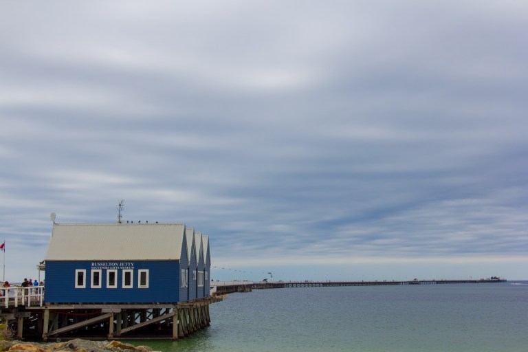 Busselton Jetty on a Cloudy Day