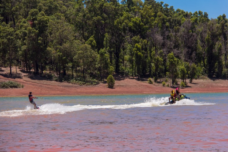 Wakeboarding at Waroona Dam