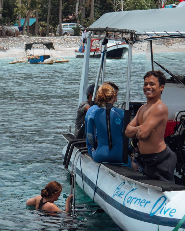 PADI Divemaster Training Blue Corner Dive Nusa Lembongan Bali