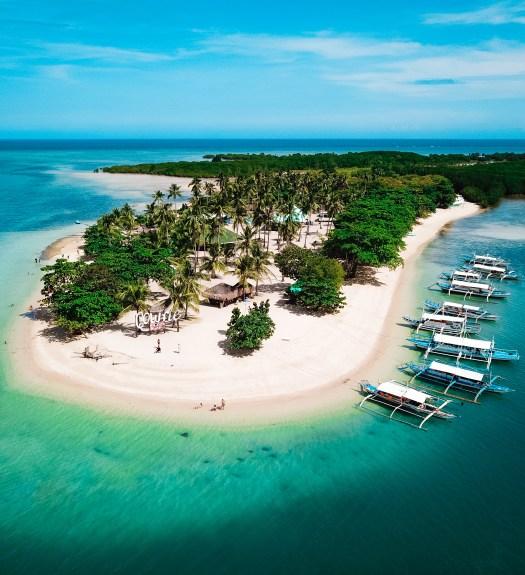Cowrie Island Honda Bay Palawan Philippines Beach Drone