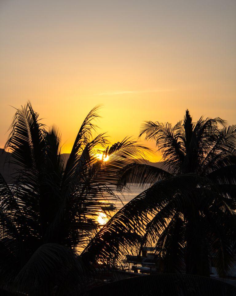 Sunset Levines Coron Palawan Philippines