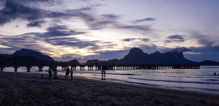 Sunset Lio Beach El Nido Palawan Philippines