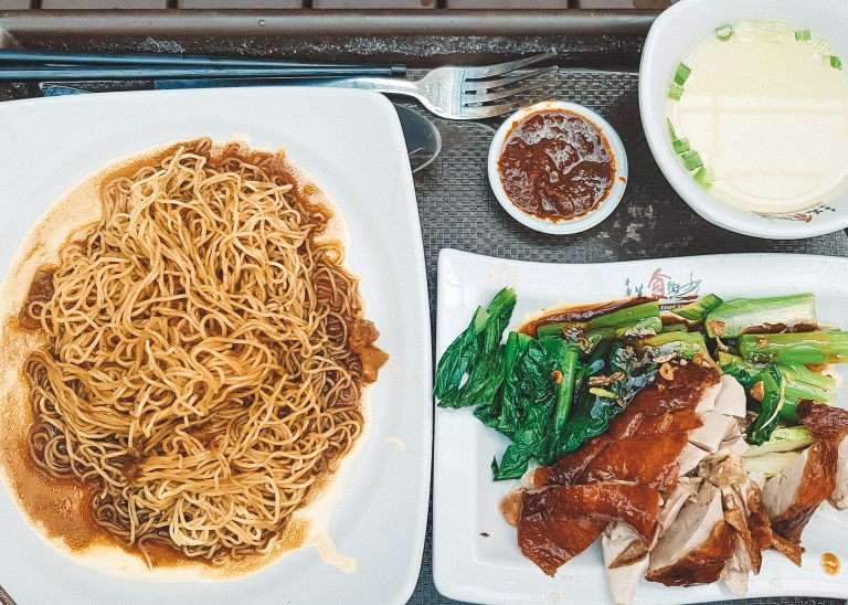 Hawkers Market Singapore Asia Duck and Noodles
