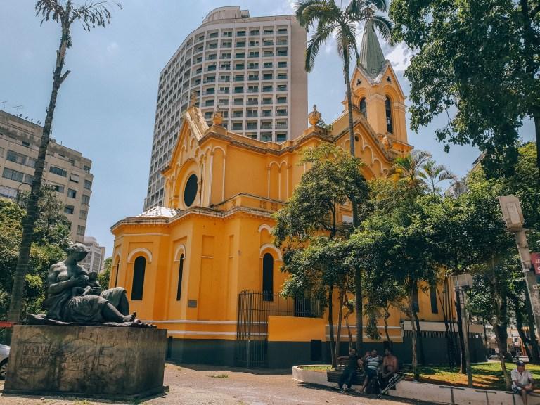 Igreja Largo Paissandu Sao Paulo Brazil South America