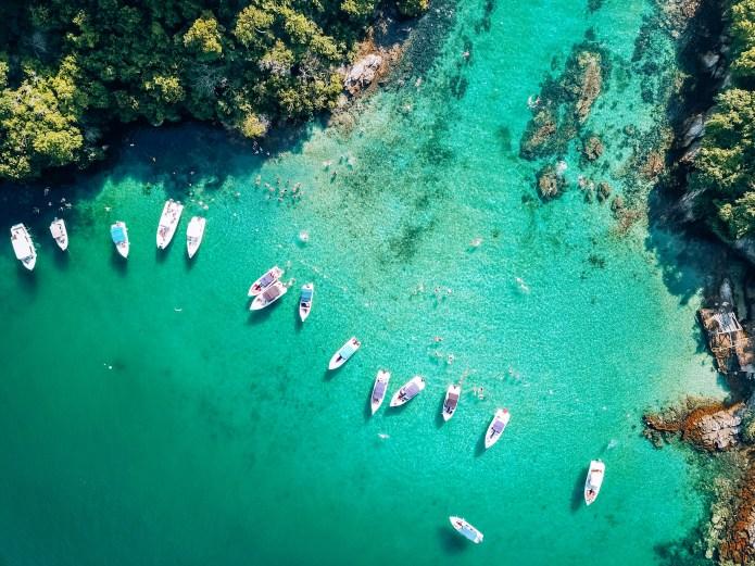 Ilha Grande Rio de Janeiro Brazil Logoa Azul Boats