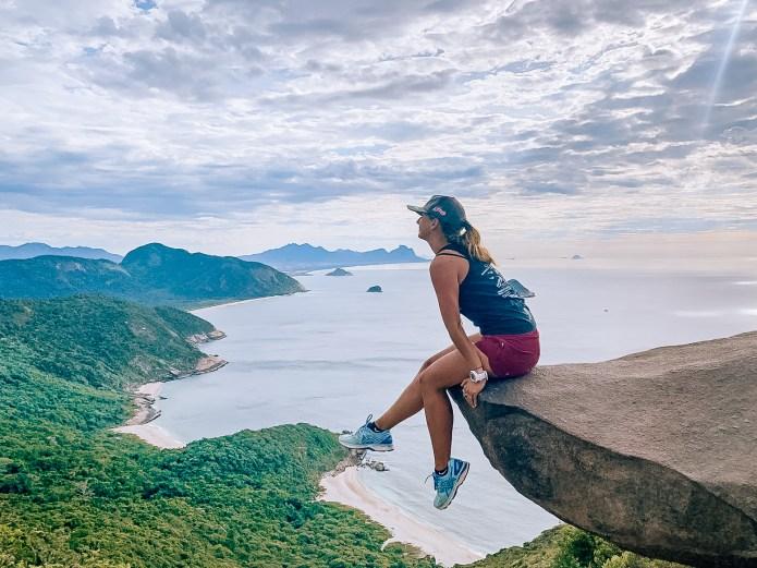 Telegraph Stone Girl Rio de Janeiro Brazil South America