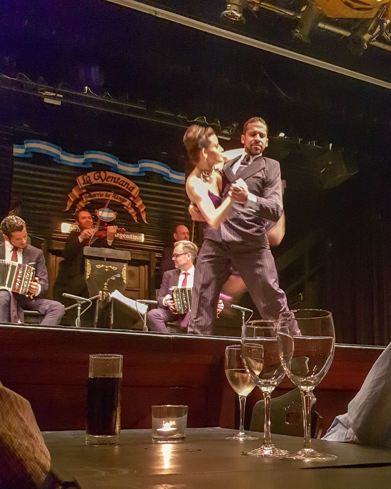 Two tango dances in Buenos Aires Argentina