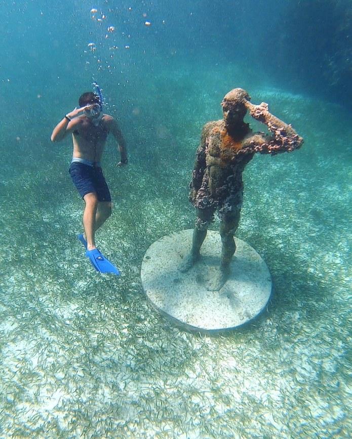 Man Freediving Jungle Tour MUSA Cancun Mexico North America