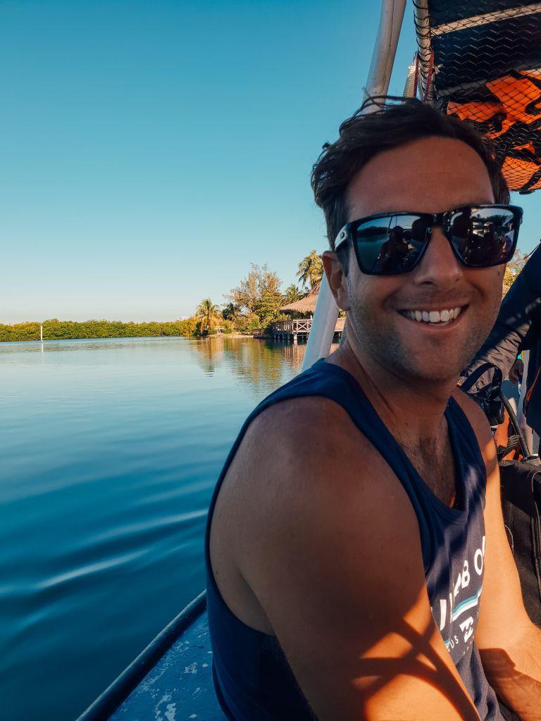 Scuba Diver Matt in Cancun Mexico