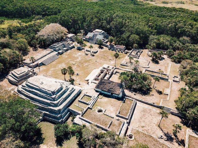 Archeological Zone Xcambo Ruins Yucatan Mexico North America