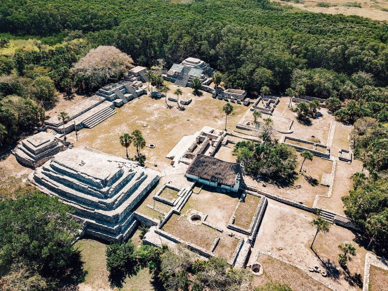 Archeological Zone Xcambo Ruins Yucatan Mexico North America