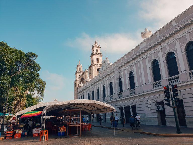 Plaza Grande Sunday Market Merida Mexico North America